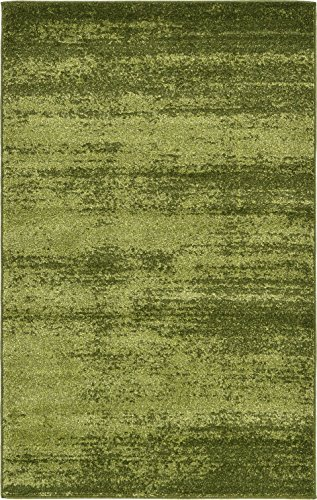 (Over-dyed Modern Vintage Rugs Green 3' 3 x 5' 3 FT Palma Collection Area Rug - Perfect for any Place)