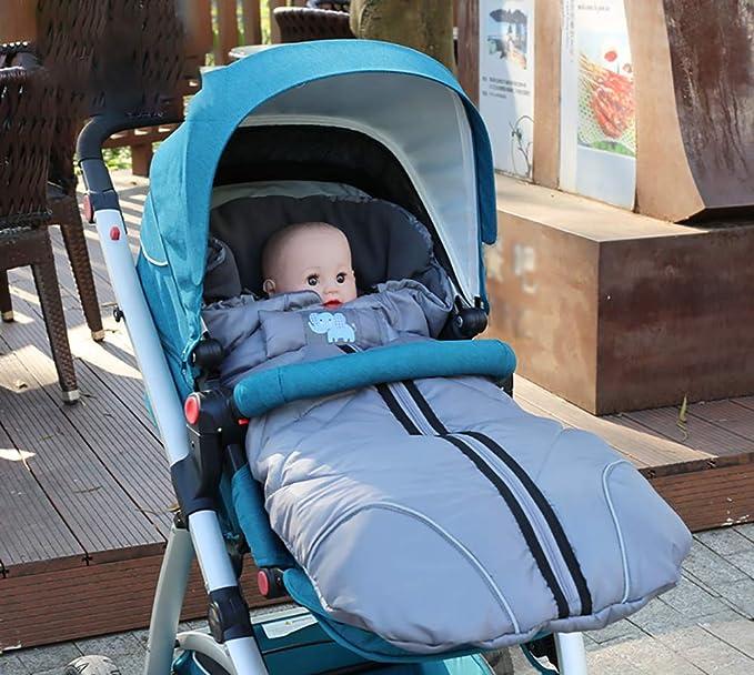 Saco de invierno Sillones para silla de paseo - Umaison Saco de dormir grueso y resistente al agua Capucha con cordón para bebé de 0-3 años de edad Se ...
