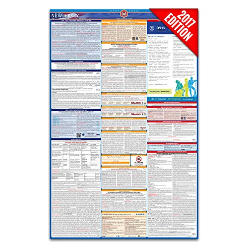 2016 New Jersey Labor Law Poster – State & Federal Compliant – Laminated