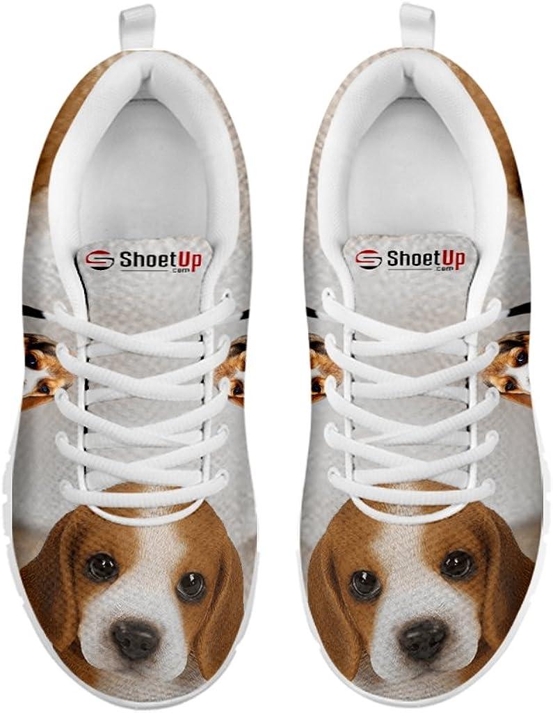 Beagle Dog Print Women's Casual Running
