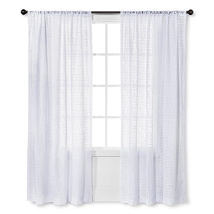 Nate Berkus Diagonal Burnout Sheer Curtain Panel