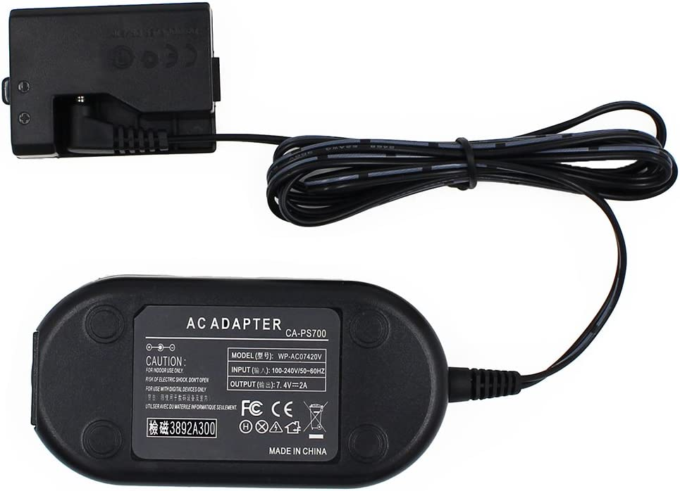 T7 T6 EOS 1100D ACK-E10 T5 FlyHi ACK-E10 AC Power Adapter DR-E10 DC Coupler Charger Kit Replacement for LP-E10 1200D for Canon EOS Rebel T3 1300D T100 Kiss X50 Kiss X70 2000D 4000D.