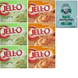 Jello instant Pudding Value Pack. Pistachio and Butterscotch Instant Pudding Mixes. Convenient One-Stop Shopping For 2 Popular Pudding Choices. Dessert Heaven! Also: Chef Paul Seasoning Mix.