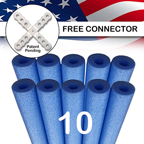 USA Foam Deluxe Foam Pool Swim Noodles - 10 PACK Blue 52...