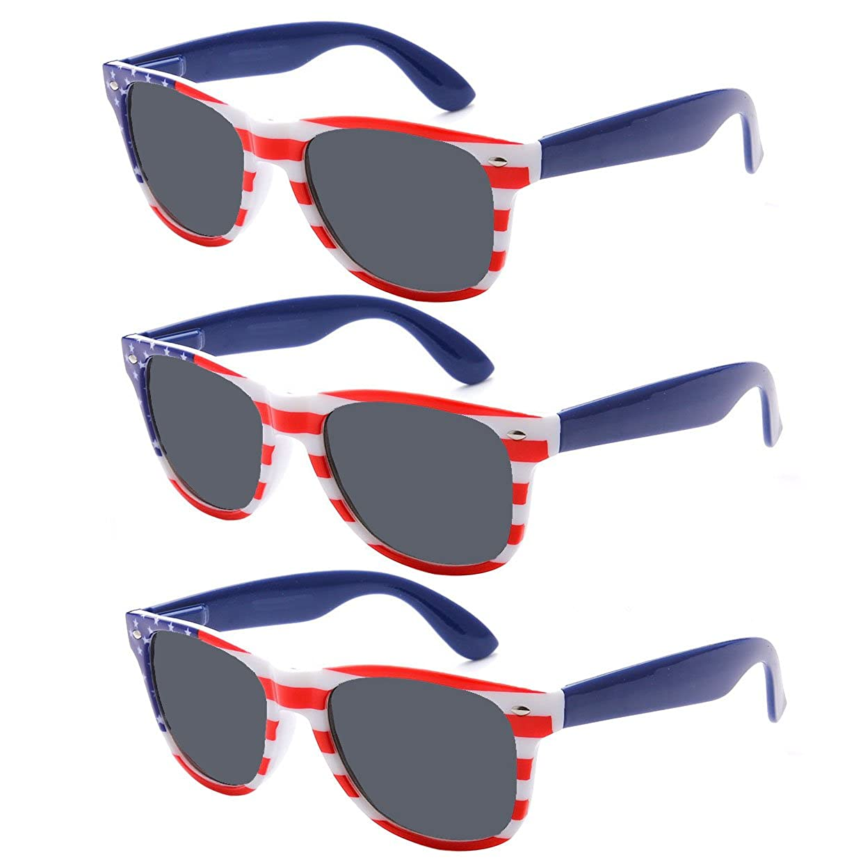 170c4d295aa American Flag Sunglasses Great for the 4th of July! Awesome US Flag  Sunglasses in a Vintage Inspired Design
