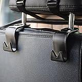 IPELY Car SUV Back Seat Headrest Hanger Storage Hooks(Black -Set of 4) Best Selling IPELY