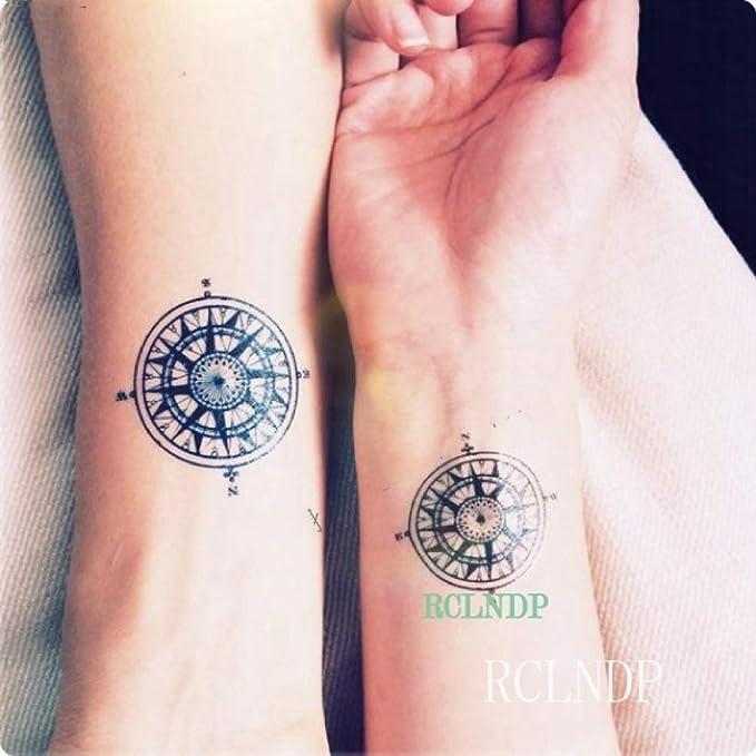 ljmljm 6 Piezas Tatuaje Impermeable Siberia Forest Tree Bird Tatto ...