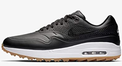 les ventes chaudes dc891 b4cbb Nike Golf Men's Air Max 1G Black/Black/Gum Light Brown 12 D US
