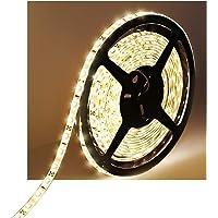 Water-resistance IP65 12V Waterproof Flexible LED Strip Light 16.4ft/5m Cuttable LED Light Strips 300 Units 3528 LEDs…