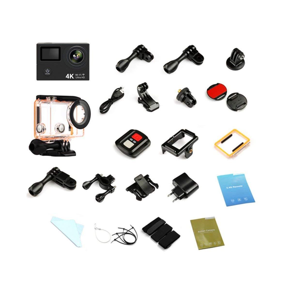 Delicacydex Mini H3R 4K Ultra Full HD Sport Kamera WiFi Fernbedienung Unterwasser Bewegung Digitale Wasserdichte Videokamera