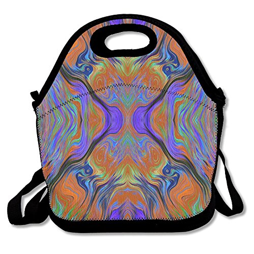 0f6de948d857 Lava LAMP Purple Orange Burnt Fusion Lunch Bag Lunch Tote Lunch Pouch  Handbag Made for Women, Men and Kids
