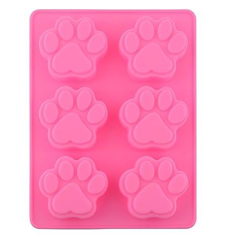 Dulce encantador de múltiples funciones de la pata del perro de silicona del molde del cubo