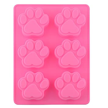 Moldes de silicona con forma de huella de perro, molde de hielo, cupcake.: Amazon.es: Hogar
