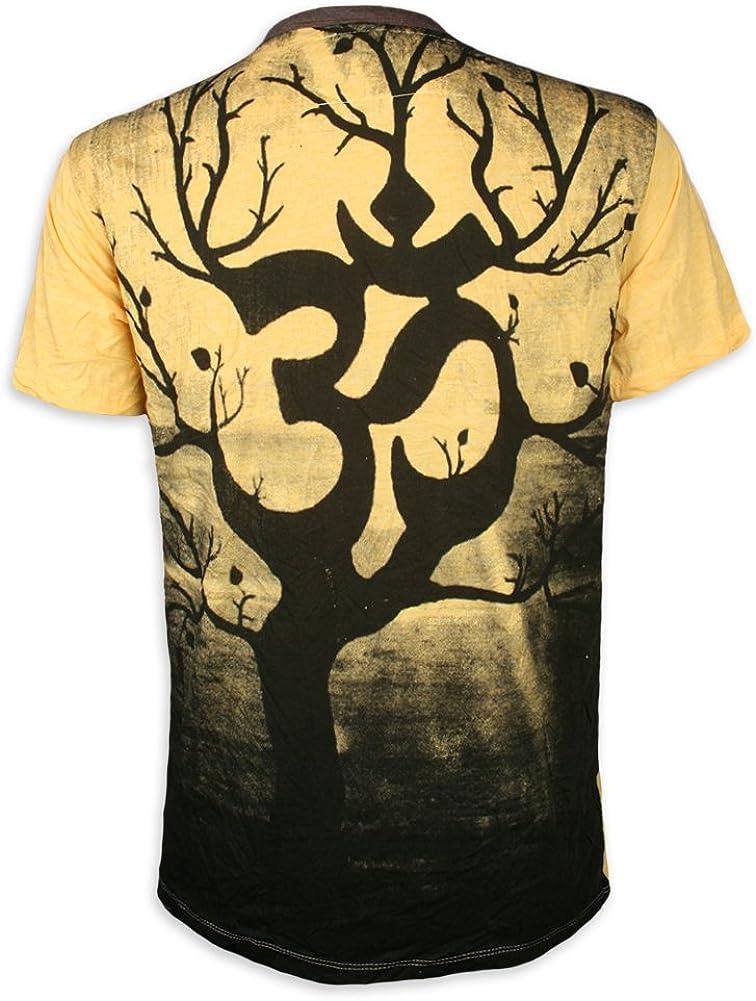 WEED Camiseta Hombre Árbol Mágico Arte Psicodélico: Amazon.es: Ropa y accesorios