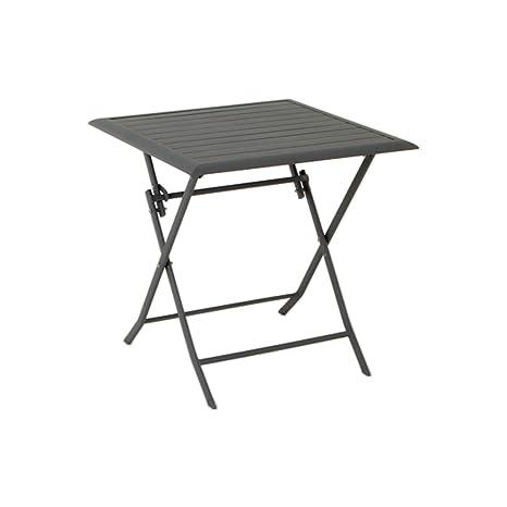 Table pliante carrée Azua - 2 places - Ardoise: Amazon.fr ...