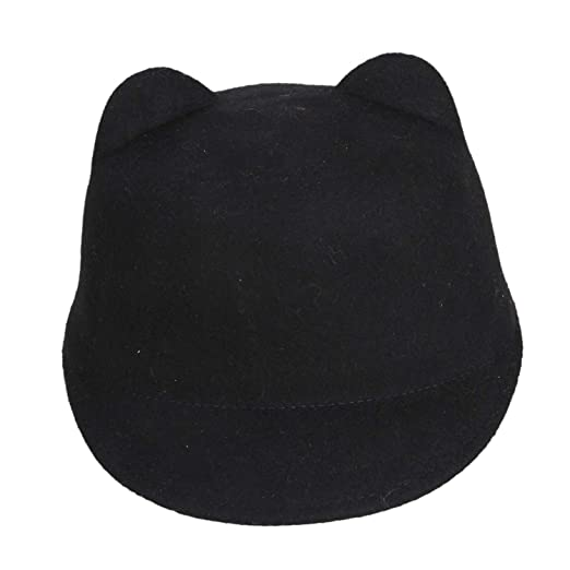 Image Unavailable. Image not available for. Color  Fashion Winter Wool  Women Hat Lady Snapback with Devil Horns Cute Cat Ear hat Animal Derby e2e6b354fb8f