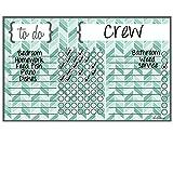 Magnet Dry Erase Chore Chart Teal Herrignbone