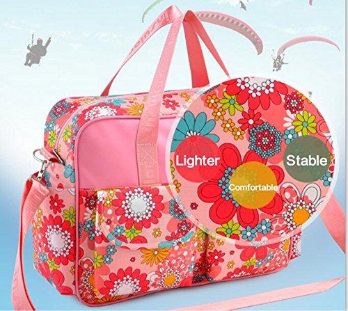 Bebé Bolsa de Pañales Cambiar de hombro gran capacidad multifunción bolsa momia bolsos Pink Beauty Romantic House