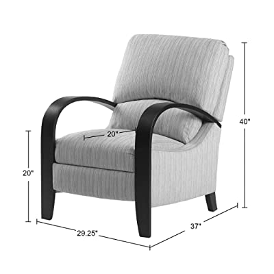 Amazon Com Madison Park Bent Arm Recliner Chair Home