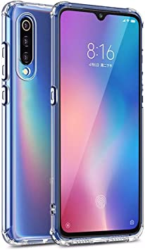 WUFONG Funda para Samsung Galaxy A50,Estuche para teléfono móvil,Caja del teléfono móvil Ultrafina Totalmente Transparente, Cubierta de airbag de Cuatro Esquinas Gruesa: Amazon.es: Electrónica