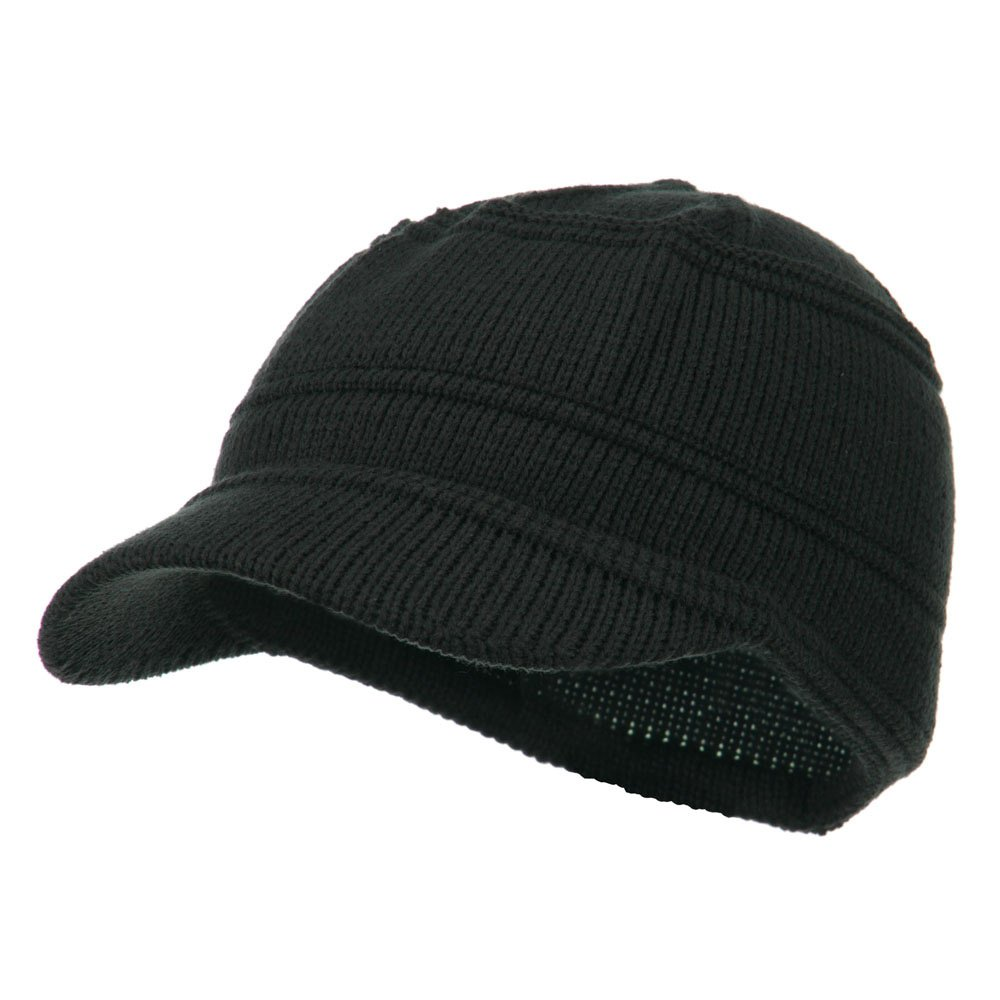 Army Jeep Style Beanie Cap - Charcoal OSFM