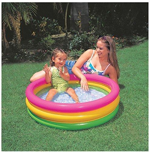 Intex Baby Swimming Pool   Mini Inflatable Sunset Glow Pool For Kids  34  X 10