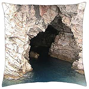 Cave Rock at sea - Throw Pillow Cover Case (18
