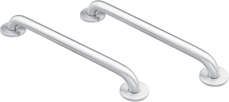 Moen 8718 Home 18-Inch Bathroom Grab Bar, Stainless with Moen 8732 Home 32-Inch Bathroom Grab Bar, Stainless