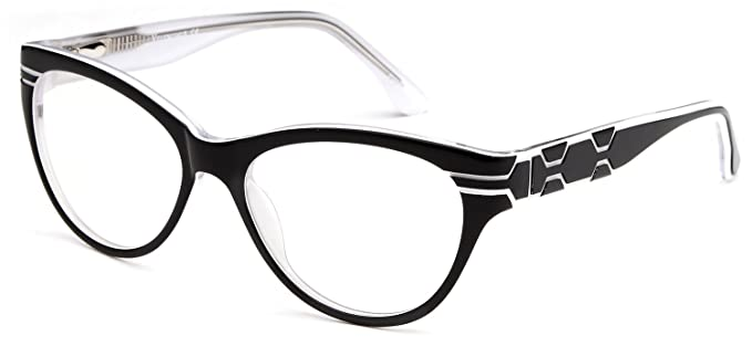 Amazon.com: Womens Cat Eye Prescription Glasses Fashion Frames in ...