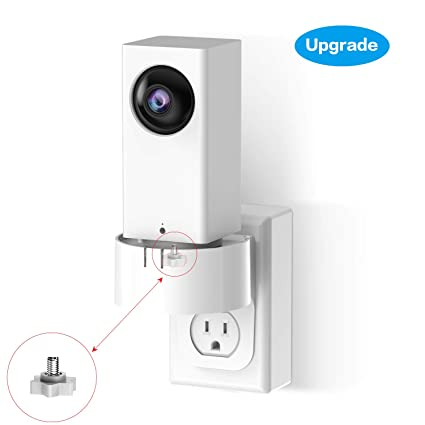 Wyze Cam Pan Wall Mount, 360 Degree Swivel AC Outlet Wall Plug Mount Stand  Holder Bracket for Wyze Cam Pan- No Messy Wires or Wall Damage by KASMOTION