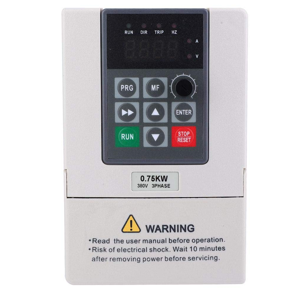 Motor Speed Control,380V 0.75KW VFD Variable Frequency Drive Inverter for Motor Speed Control 3-Phase Input Output by Xinwoer