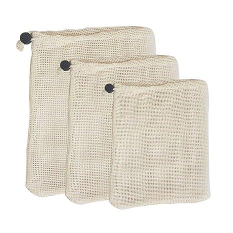 Bolsa reutilizable de tejido de red, bolsa de malla 1/3/6 ...