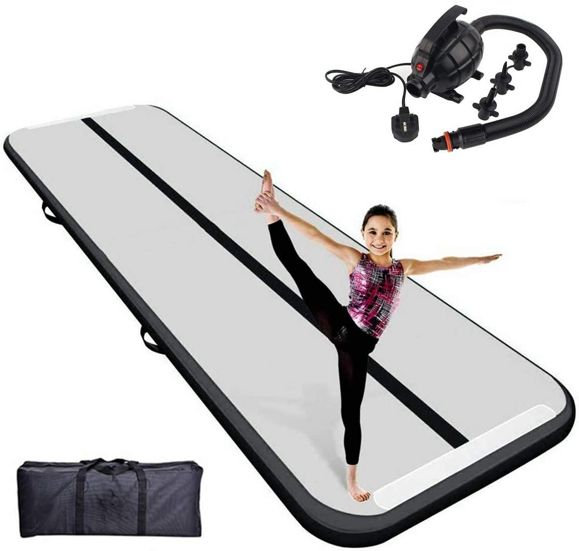 10 Ft Air Tumbling Track Mat-For Gymnastics Training Home Use Yoga Water- Good Gift for Family and Friend ANNTU Inflatable Air Gymnastics Track Mat Cheer leading