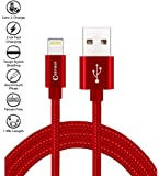 Chevron Charge & Sync Lightning Cable Apple MFi Certified [1 Meter/ 3.3 Feet] long Nylon Braided Original USB Data Cable Tough Lightning Cable for All iPhone, iPad and iPodup to 2.4Amps