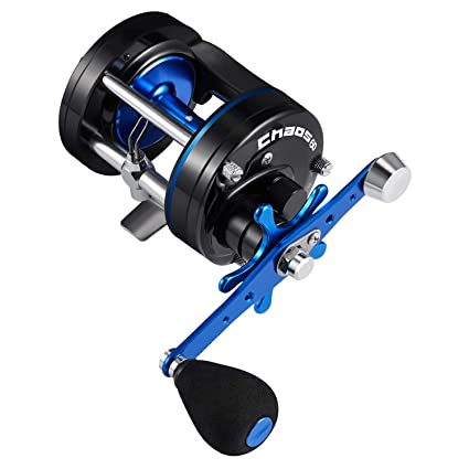 508490b230e Amazon.com : Piscifun Chaos Round Reel Blue 60 Left Handed : Sports ...
