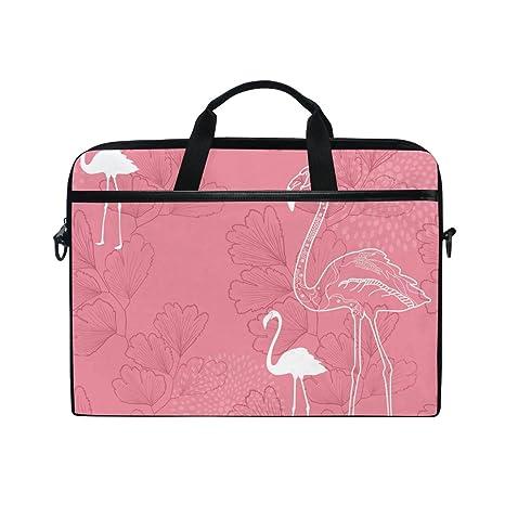 JSTEL Flamingos 2 - Bolso bandolera para ordenador portátil (14 a 15,6 pulgadas