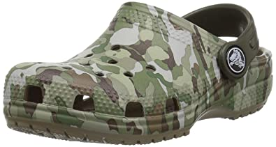 bcd97214dd462 Crocs Unisex Classic Graphic K Clog, Khaki, 11 M US Little Kid