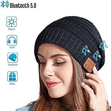5.0 Bluetooth Beanie Hat,Gorras de Mujer Invierno con Bluetooth ...