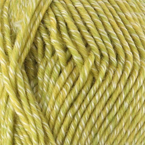 BambooMN Brand - 10 Skeins - Chunky Melody Limeade Heather 70% Wool Blend Yarn, Bulky, 100g/skein style B945