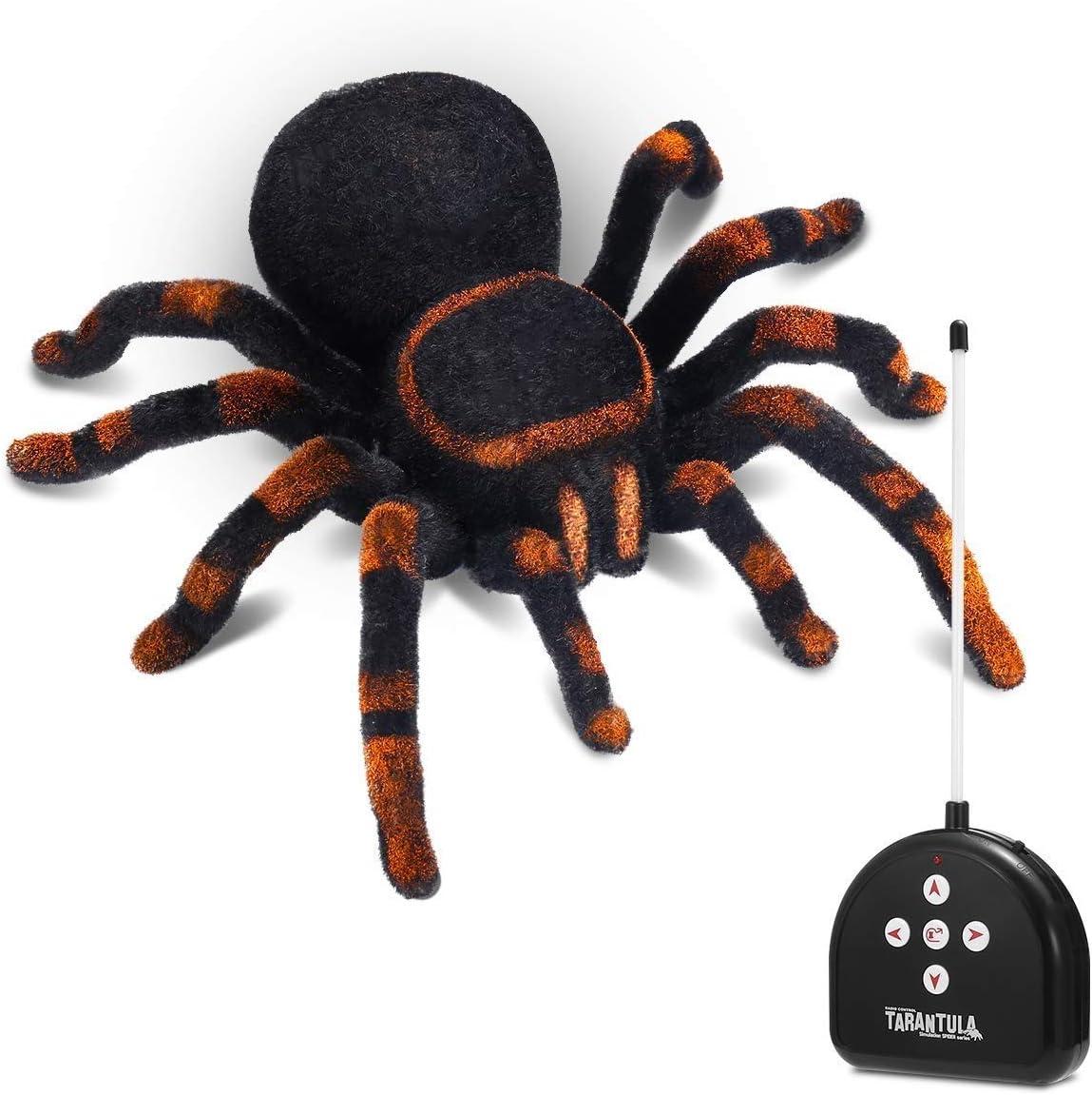 Llpeng Araña de Control Remoto for la travesura Realista Felpa Tarantula de Halloween de la araña RC niños de Juguete de simulación de rastreo de Control Remoto araña Regalo for los niños niñas
