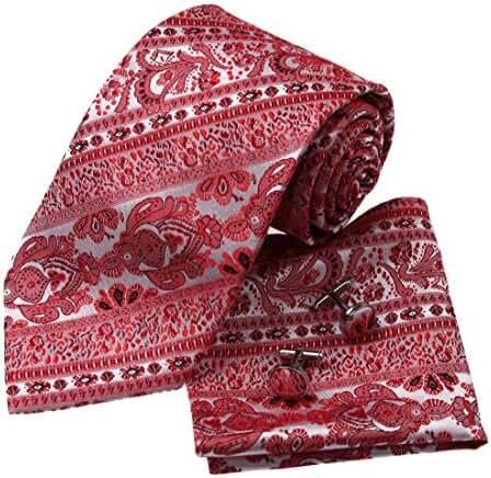 YAC2B01 Fashion Multi-colored Mens Pattern Silk Ties Gift Ideas 3PT By Y&G