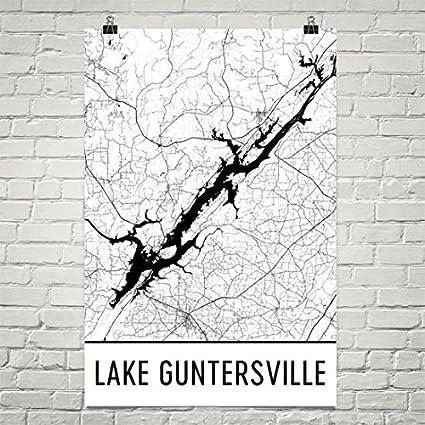Phenomenal Amazon Com Modern Map Art Lake Guntersville Alabama Lake Pdpeps Interior Chair Design Pdpepsorg