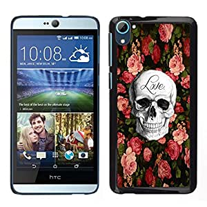 // PHONE CASE GIFT // Duro Estuche protector PC Cáscara Plástico Carcasa Funda Hard Protective Case for HTC Desire D826 / Love Rock Metal Rose Halloween /