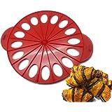 Elicuisine 013482 013482 Moule à Croissant 2 en 1 Plastique Rouge 37,5 x 30,5 x 1,8 cm