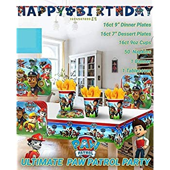 Everyday Party Bundles Cups Thomas The Train Birthday Party Supplies Decoration Bundle for 16 Guests and Jumbo Banner Bonus Matching Paper Straw Pack Napkins Includes Plates Table Cover