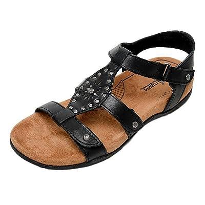 Minnetonka Women's Bristol Black Leather 9 M US | Flats