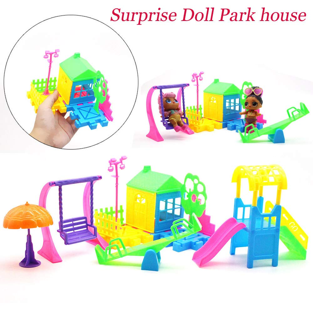 LSAltd Princess Doll's Paradise Park Big Slide Playset House Game Gift Toy for LOL Surprise Doll