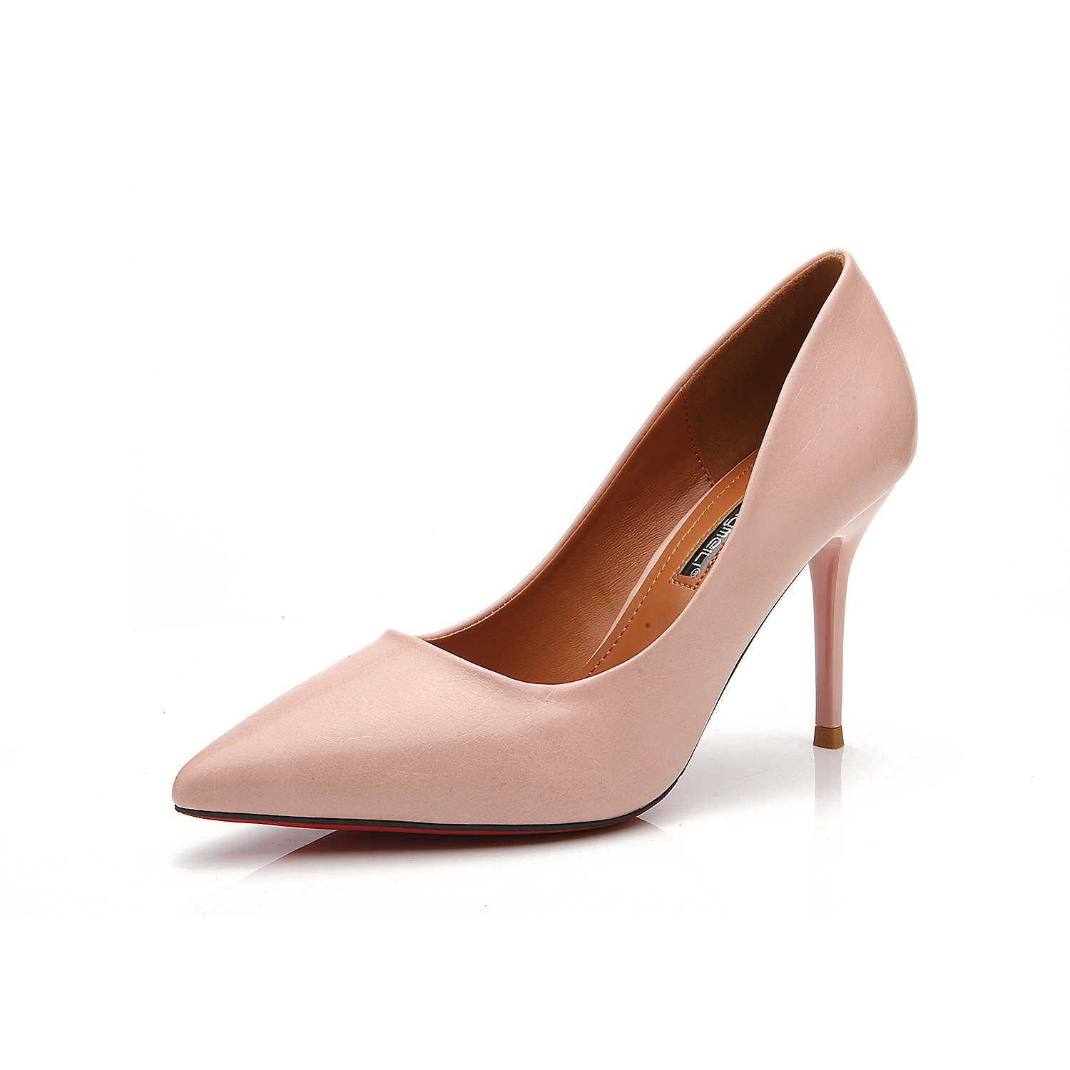 In light of the fine with the high-heel shoes Korean version of the yuan fine tip with the high-heel shoes single shoes female ol, pink 39
