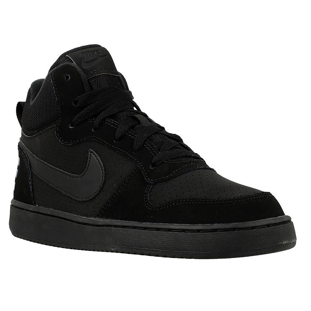 Nike Court Borough Mid GS - 839977001 - Color Black - Size: 3.5 by NIKE