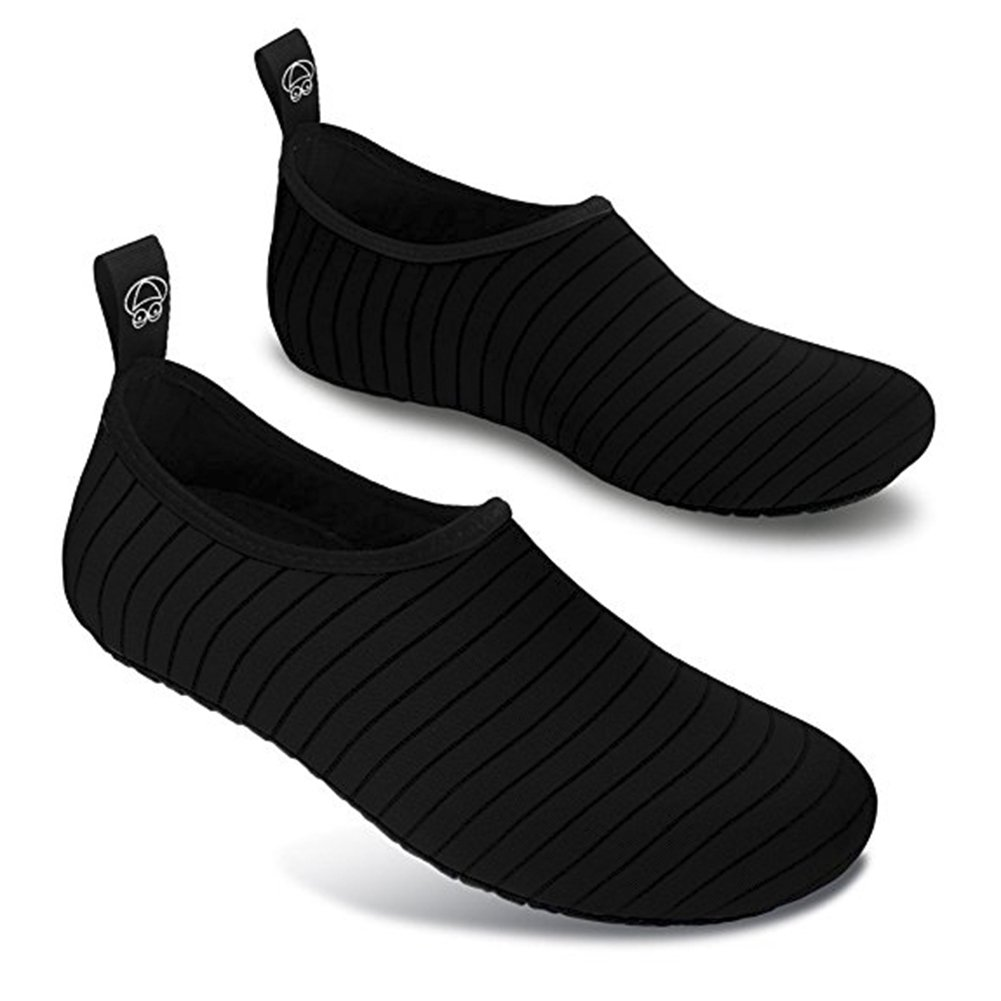Men and Women Slip-On Water Shoes Lightweight Barefoot Quick-Dry Aqua Yoga Socks For Outdoor Beach Sports(Black,36/37EU) by YALOX (Image #3)